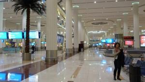 Flughafen Dubai Ankunftshalle