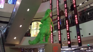Dino in shopping mall