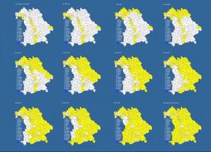 Entwicklung der Landkreisabdeckung in Bayern